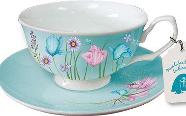 Sada 2 šálků na cappucino Aquamarine Cups