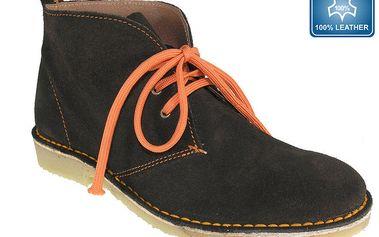Dámské tmavé prošívané kotníkové boty Beppi