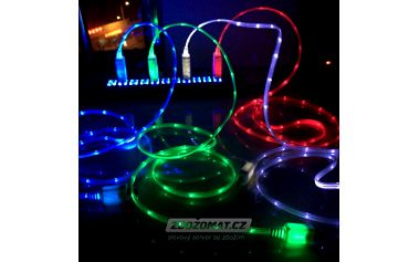 LED svítící datový kabel pro iPhone, Samsung!