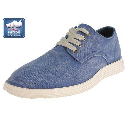 Pánské modré šněrovací boty Beppi