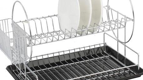 Dvoupatrový odkapávač Chrome Dish