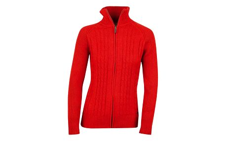 Dámský červený svetr se zipem Bushman