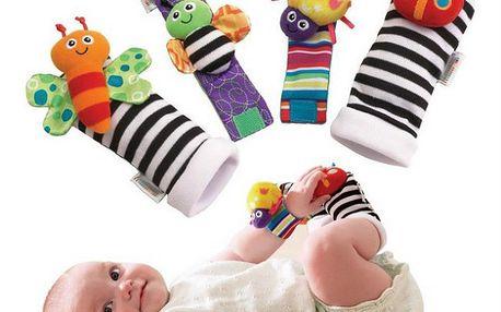Sada chrastítek pro miminka - zabavte miminko na dlouhé hodiny!