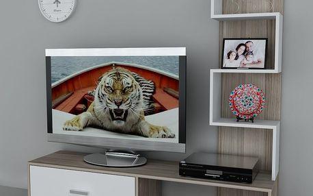 Televizní stěna Akay Cordoba/White, 39x160x160 cm