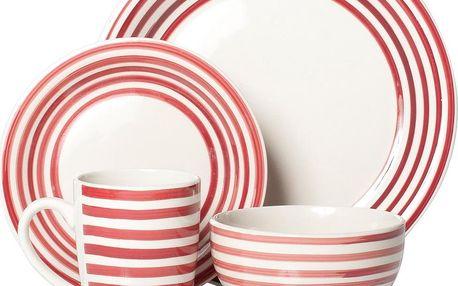 Set nádobí Carnaby Red, 16 ks