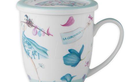Porcelánový hrnek na čaj Aquamarine Tea