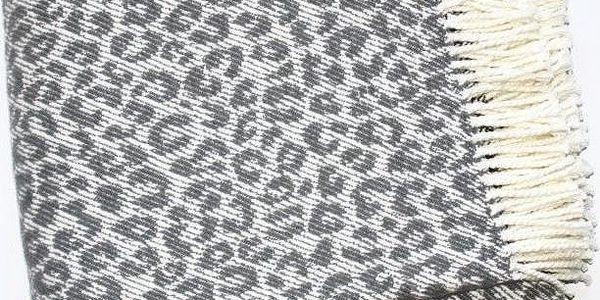 Deka Leopard Dark Grey, 140x180 cm