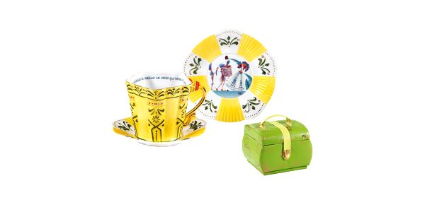 Porcelánová sada šálku, podšálku a talíře Brasil