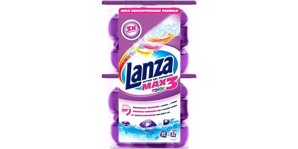 Prací gelové kapsle Lanza Color, 32ks