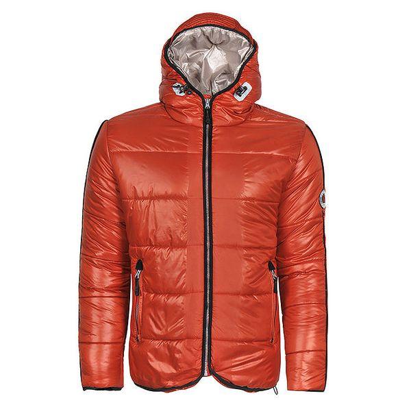 Pánská zimní bunda v oranžové barvě Giorgio di Mare