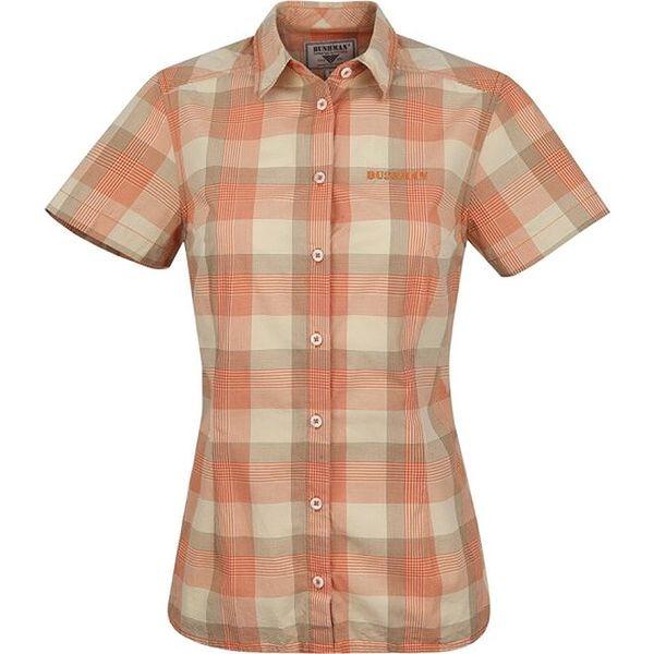 Dámská oranžová károvaná košile Bushman