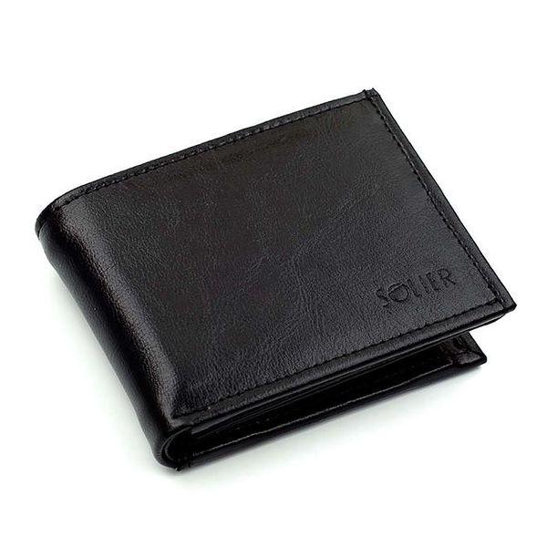 Pánská černá peněženka Solier