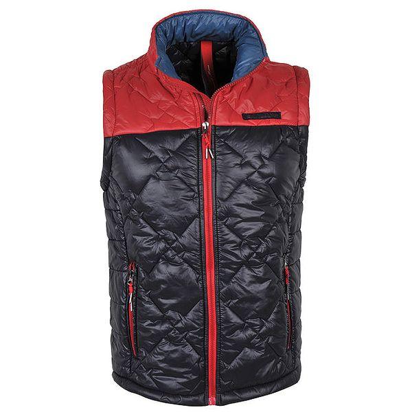 Pánská modro-červená prošívaná vesta Giorgio Di Mare