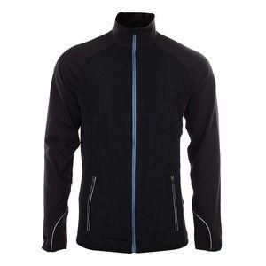 Pánská černá bunda s modrým zipem Authority