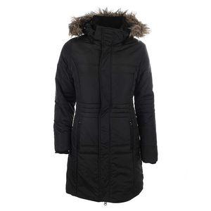 Dámský černý kabát s kožíškem Authority