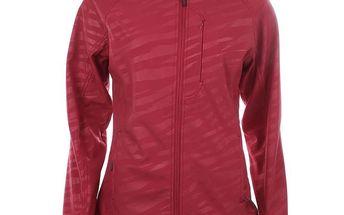 Dámská červená softshellová bunda se vzorem Authority