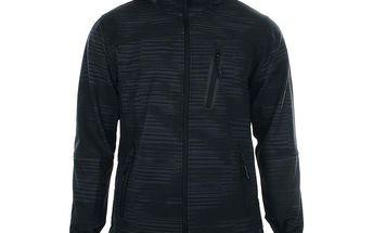 Pánská černá softshellová bunda se vzorem Authority