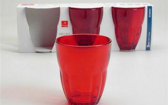 Set skleniček Ercole Red, 3 ks