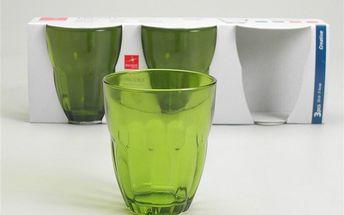Set skleniček Ercole Green, 3 ks
