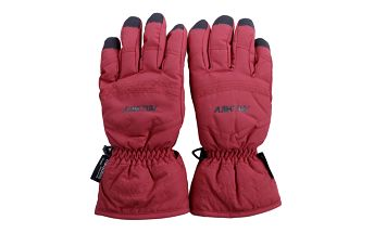 Červeno-černé lyžařské rukavice Authority