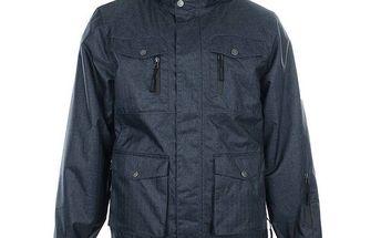 Pánská tmavě modrá bunda s kapsami Authority