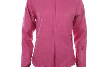 Dámská růžová softshellová bunda s kapucí Authority
