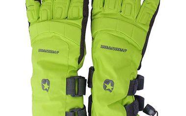 Neonové lyžařské rukavice s hvězdou Authority