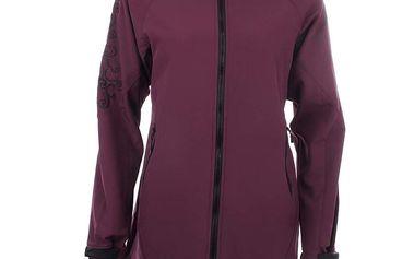 Dámská prodloužená softshellová bunda ve fialovém provedení Authority