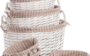 Set košíků White Willow, 7 ks