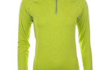 Dámské neonově zelené triko s dlouhým rukávem Authority