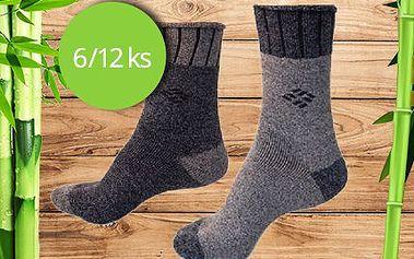 Termo bambusové ponožky s komfortním lemem