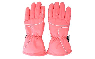Dámské růžové lyžařské rukavice Authority