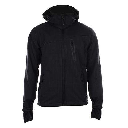 Pánská černá softshellová bunda s kapucí Authority