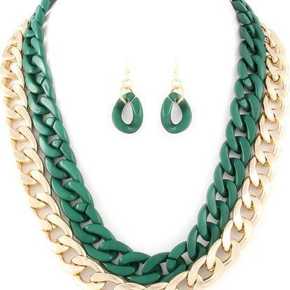 Set náhrdelník a náušnice Chloe Green