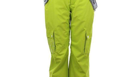 Dámské neonově zelené snowboardové kalhoty Authority