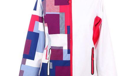 Dámská bílá softshellová bunda Authority s barevnou polovinou