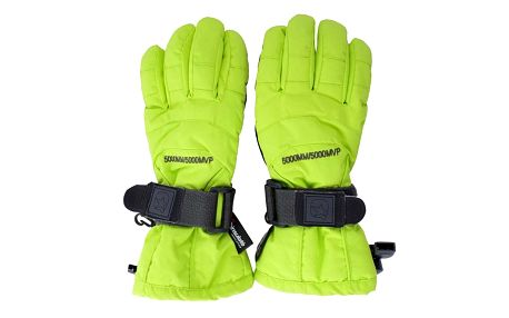 Neonově zelené lyžařské rukavice Authority