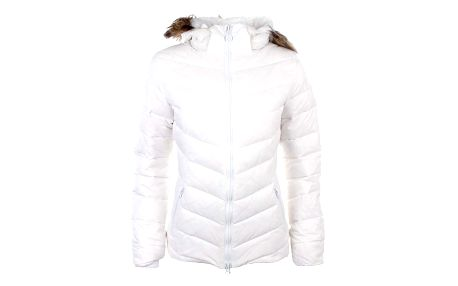 Dámská bílá prošívaná bunda s kožíškem Authority