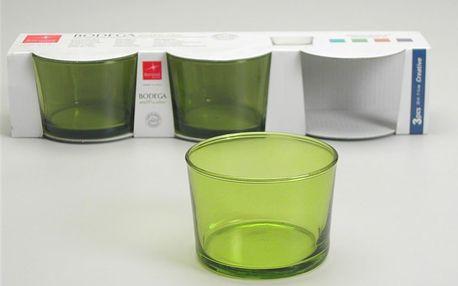 Set skleniček Bodega Green, 3 ks