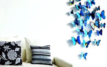 Krásná 3D dekorace do vašeho bytu: 3D motýlci