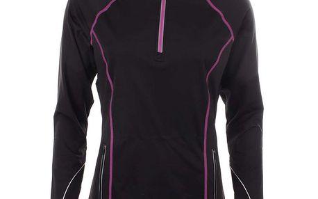 Dámské černé sportovní tričko s dlouhým rukávem a kapucí Authority