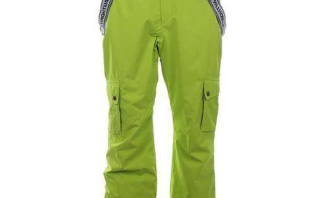 Pánské neonově zelené lyžařské kalhoty Authority
