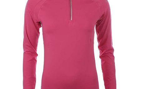 Dámské růžové triko s dlouhým rukávem Authority