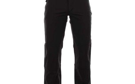 Pánské černé softshellové kalhoty se zipovými kapsami Authority