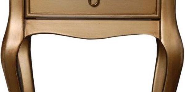 Odkládací stolek Viola Gold, 46x33x70 cm - doprava zdarma!