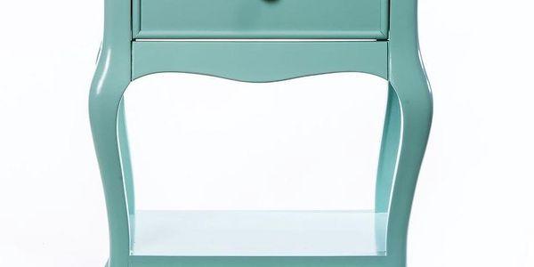 Odkládací stolek Purl Light Green, 44x33x60 cm - doprava zdarma!