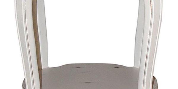 Odkládací stolek Behram Coffee, 52x52x57 cm - doprava zdarma!