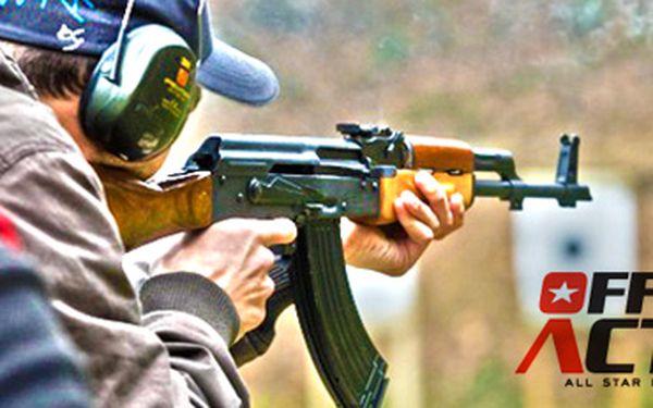 Střelba samopalem Kalašnikov AK-47 (10 ran) a muzeum vojenské techniky!