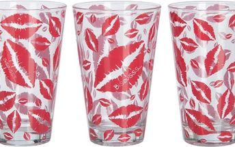 Set skleniček Drink Lips, 3 ks