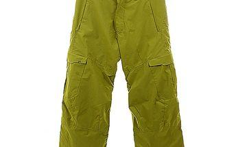 Pánské zelené snowboardové kalhoty s proužkem Hannah